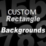 CUSTOM SIZE RECTANGLE STICKER BACKGROUND (medium) -  between 28.75cm and 46.25cm